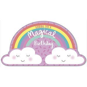 Sainsbury's Home Rainbow and Clouds Birthday Card