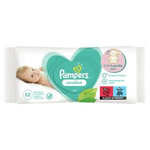 Pampers Sensitive Baby Wipes 52 Pack
