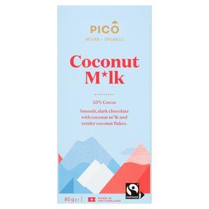Pico Fairtrade Organic Coconut Milk Chocolate Bar 80g