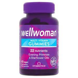 Vitabiotics Wellwoman Multi-Vitamin Vegan Gummies Natural Berry Flavour x60