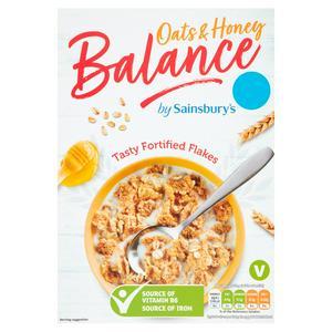 Sainsbury's Balance Flakes Honey & Oats 500g