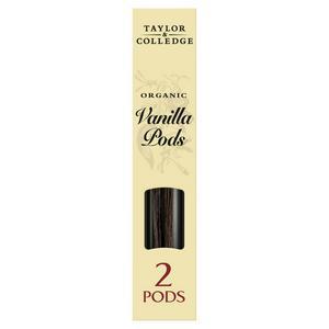 Taylor & Colledge Organic Vanilla Pods x2