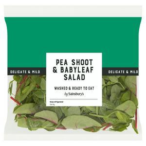 Sainsbury's Pea Shoot & Babyleaf Salad 80g