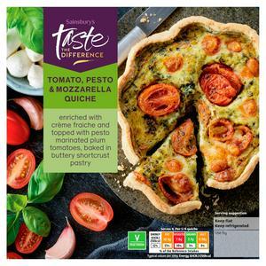 Sainsbury's Plum Tomato, Mozzarella & Pesto Quiche, Taste the Difference 400g
