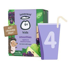 Innocent Kids Smoothies, Apples & Blackcurrants 4x150ml