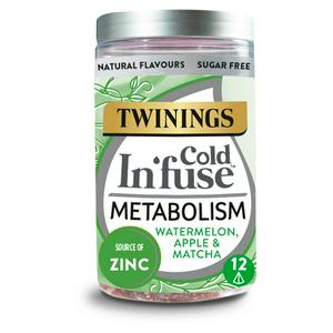 Twinings Cold In'fuse Metabolism with Watermelon, Apple & Zinc, 12 Infusers