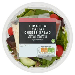 Sainsbury's Tomato & Italian Cheese Salad Bowl 140g