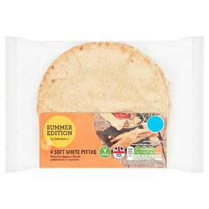 Sainsbury's Soft White Pitta x4