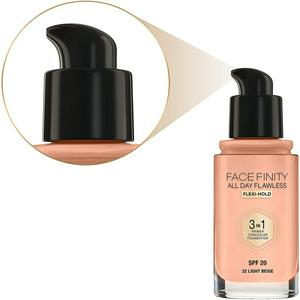 Max Factor Facefinity All Day Flawless 3-in-1 Foundation 32 Light Beige 30ml
