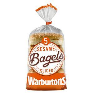 Warburtons Sesame Bagels x5