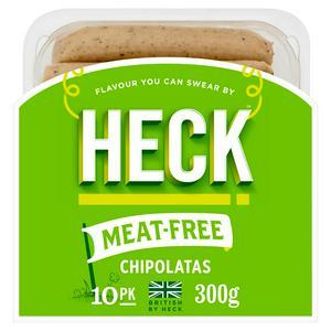 Heck Meat Free Vegan Chipolatas x10 300g