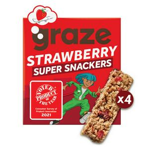 Graze Super Snackers Strawberry Kids Cereal Bar 4 x 23g
