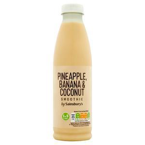 Sainsbury's Pineapple, Banana & Coconut Smoothie 750ml