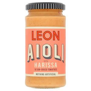 LEON Aioli with Harissa & Sun-Dried Tomatoes 240ml