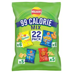 Walkers 99 Calorie Mix Multipack Snacks Pack x22