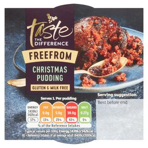 Sainsbury's Free From Christmas Pudding, Taste the Difference 100g