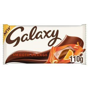 Galaxy Smooth Orange Chocolate Bar 110g