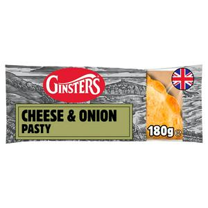 Ginsters Cornish Cheddar & Onion Pasty 180g