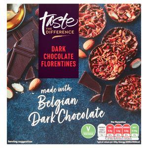 Sainsbury's Dark Chocolate Florentines, Taste the Difference 150g