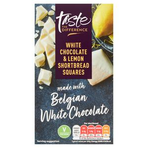 Sainsbury's White Chocolate & Lemon Shortbread Squares, Taste the Difference 155g