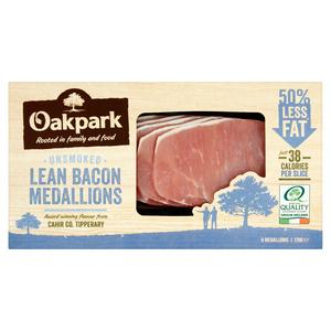 Oakpark Unsmoked Lean Bacon Medallions x6 170g