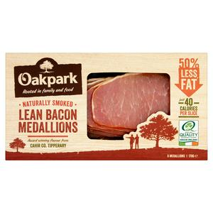 Oakpark Smoked Lean Bacon Medallions x6 170g