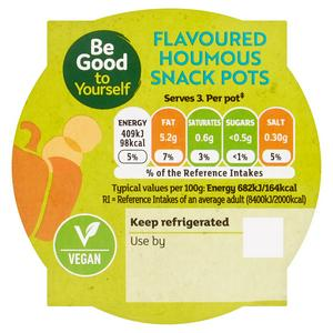 Sainsbury's Flavoured Houmous Stacker, Be Good To Yourself 180g