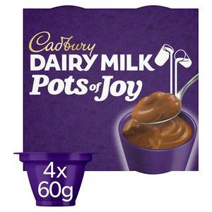 Cadburys Dairy Milk Pots of Joy 4x65g