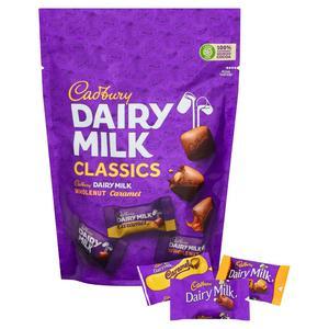 Cadbury Dairy Milk Classics Mixed Chocolate Chunks Pouch 350g