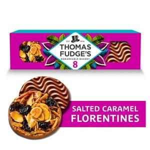 Thomas Fudge's 8 Salted Caramel Florentines