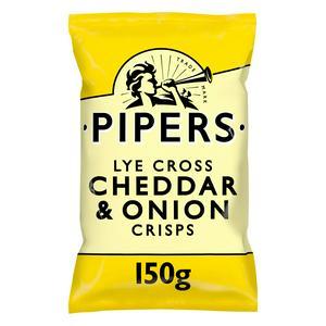Pipers Lye Cross Cheddar & Onion Sharing Crisps 150g