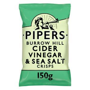 Pipers Burrow Hill Cider Vinegar & Sea Salt Sharing Crisps 150g