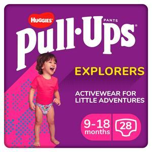 SAINSBURYS > Baby Toddler > Pull Ups Explorers Girl, 9-18 Months, x28