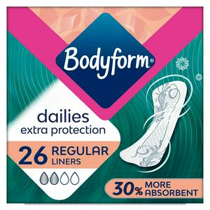 Bodyform Dailies Extra Protection Normal Panty Liners x26