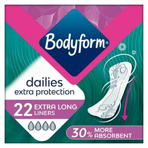 Bodyform Dailies Extra Protection Extra Long Panty Liners x22