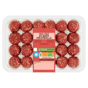 Sainsbury's 10% Fat Meatballs 700g
