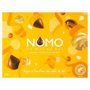 NOMO Caramel Filled Choc Drops 93g
