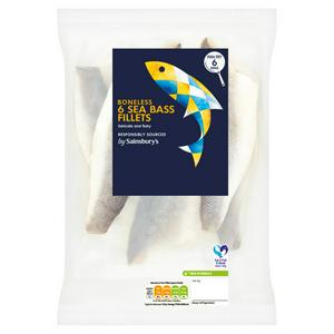 Sainsbury's Sea Bass Fillets 540g