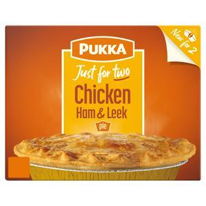 Pukka Just For Two Chicken, Ham & Leek Pie 450g