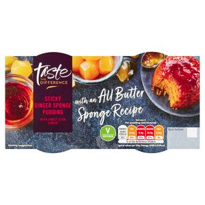 Sainsbury's Sticky Ginger Sponge Pudding, Taste the Difference x2 100g