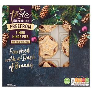 Sainsbury's Free From Mini Mince Pies, Taste the Difference x9 275g