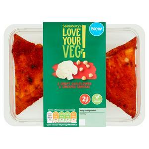 Sainsbury's Vegan Crispy Cauliflower & Chickpea Samosas x2 140g