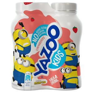 Yazoo No Added Sugar Strawberry Milk Drink 4x200ml
