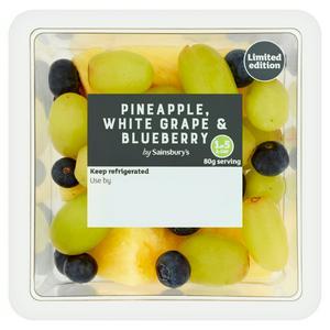 Sainsbury's Pineapple, Grape & Blueberries 210g
