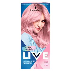 Schwarzkopf Live Pretty Pastels Ultra Bright Semi Permanent Rose Gold P123