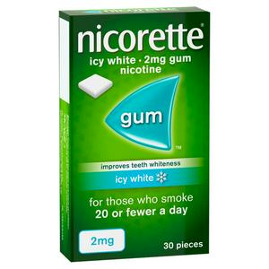 Nicorette Icy White Gum - 2mg, x30 Pieces