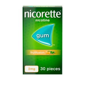 Nicorette� Fruitfusion Gum Nicotine 2mg x30 Pieces (stop smoking aid)