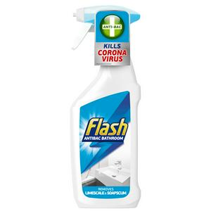 Flash Antibacterial Bathroom Cleaning Spray For Hard Surfaces 500ml