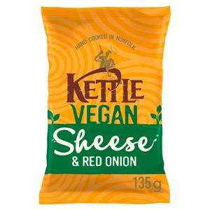 Kettle Chips Vegan Sheese & Red Onion Sharing 135g