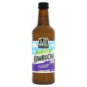 Lo Bros CBD, Organic Kombucha Blueberry Lemonade 330ml